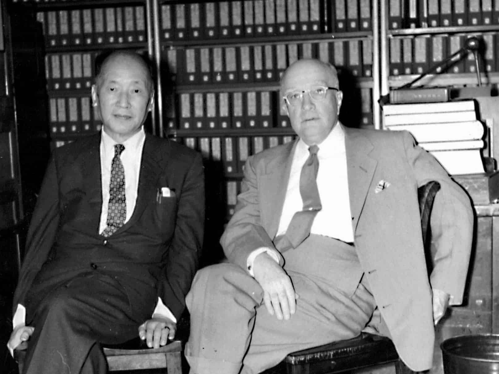 Dr. Arthur W. Hummel with a Chinese Colleague At the Library of Congress