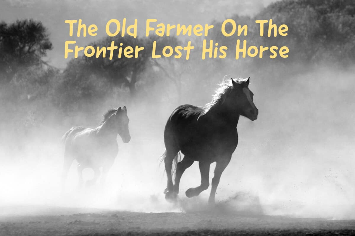 The Old Farmer On The Frontier Lost His Horse - An Old Chinese Story