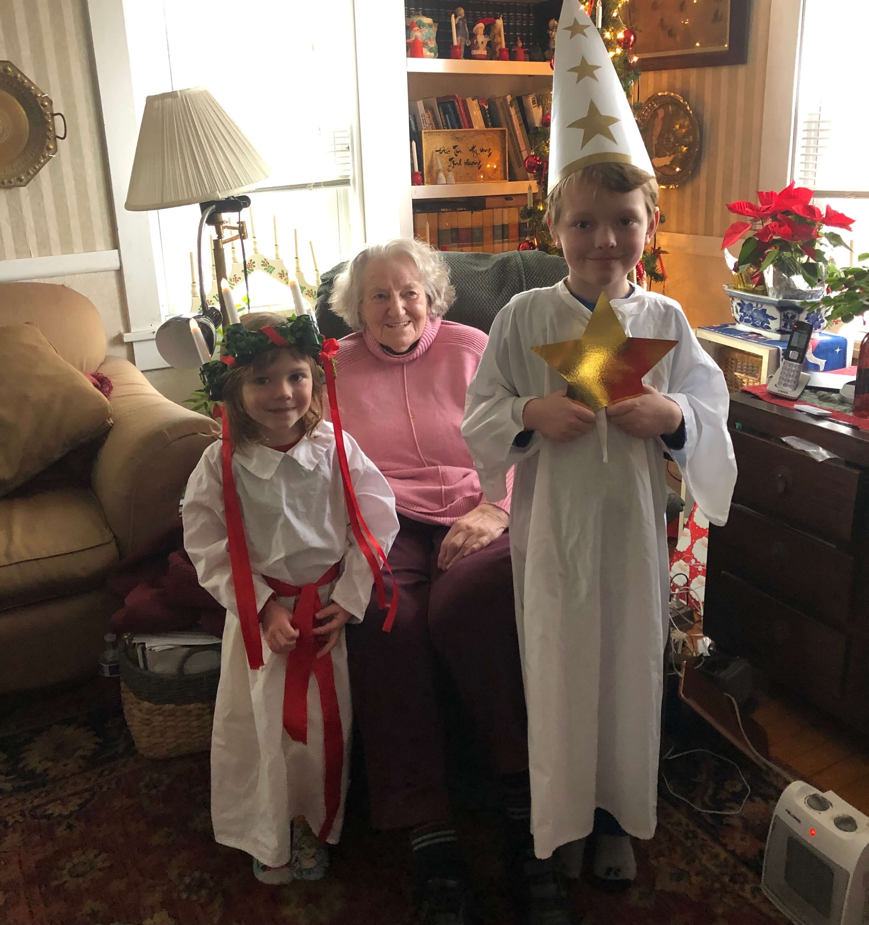 Anne-Marie Hummel and Zoe and Nathan - Santa Lucia 2020