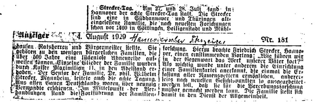 Old German Newspaper Clipping