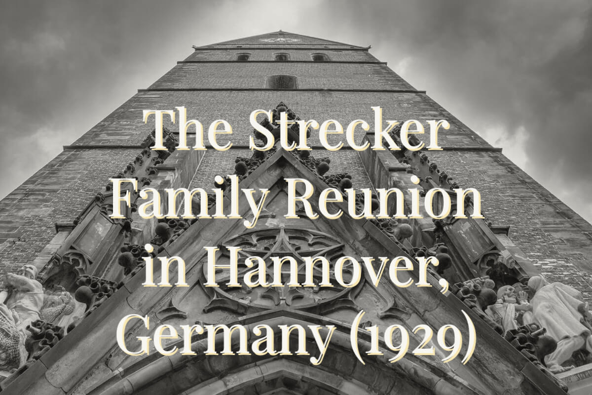 The Strecker Family Reunion in Hannover Germany 1929